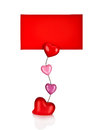 Heart-shaped holder for paper  on white background Royalty Free Stock Photos