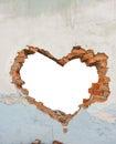 Heart shaped hole