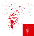 Heart shaped ink stains. Vector Stock Image