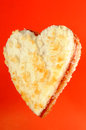 Heart Shaped Jam Sandwich Stock Image