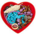 Heart shaped jewel box Stock Photography