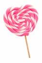 Heart shaped lollipop Royalty Free Stock Photo