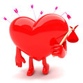 Heart shaped mascot Royalty Free Stock Photography