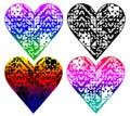 heart shaped pattern, t-shirt design