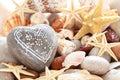 Heart shaped pebble. Royalty Free Stock Photo