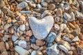A Heart Shaped Pebble Royalty Free Stock Photo