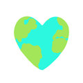 Heart shaped planet Earth.