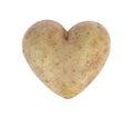 Heart shaped potato spud, studio shot Royalty Free Stock Photo