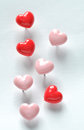 Heart Shaped Push Pins Stock Photography