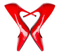 Heart shaped red high heel shoes Royalty Free Stock Photo
