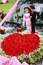 Heart-shaped roses Stock Photography