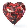 Heart shaped ruby Royalty Free Stock Photo