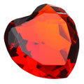 Heart Shaped Ruby Gemstone Stock Photo