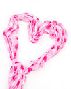 Heart Shaped Scarf Stock Images