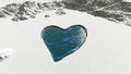 Heart shaped on snow illustration of a Stock Photography