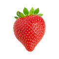 Heart-shaped strawberry. Stock Photos