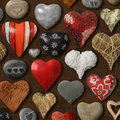 Heart shaped things Stock Image