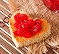 Heart-shaped toast Royalty Free Stock Photo