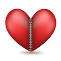Heart shaped in two halfs with a binder Royalty Free Stock Image
