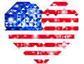 Heart shaped US flag