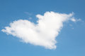 Heart shaped white cloud on blue sky Royalty Free Stock Photo