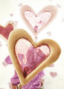 Heart shaped window cakes Stock Photo
