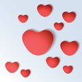 Heart shapes on colorful background vector illustration Royalty Free Stock Photography