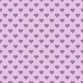Heart shapes polka pattern pink seamless background Stock Photos