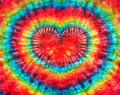 Heart sign tie dye pattern background. Royalty Free Stock Photo