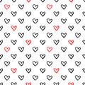 Heart signs seamless pattern Royalty Free Stock Photo