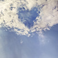 Heart in sky my photo manipulation with my photos Royalty Free Stock Photo