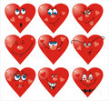 Heart Smiles to Valentine`s day Stock Images