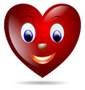 Heart smiley isolated Royalty Free Stock Photo