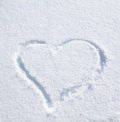 Heart on the snow Royalty Free Stock Photo