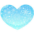 Heart with snowflakes vector this is file of eps format Stock Photography