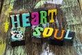 Heart soul beauty emotion music romance love spirit passion Royalty Free Stock Photo