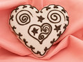 Heart spice cake Stock Images