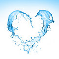 Heart Splash Stock Images