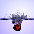 Heart splashing in the water Royalty Free Stock Photo