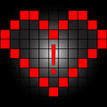 Heart in squares Royalty Free Stock Photos