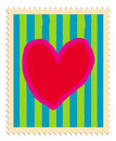 Heart stamp Stock Photo