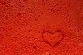 Heart stamp prints burst bubbles