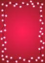 Heart and star shape light bulbs frame