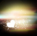Heart star in the sky Royalty Free Stock Photo