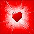 Heart on starburst Royalty Free Stock Photo