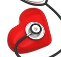 Heart and a stethoscope Royalty Free Stock Photos
