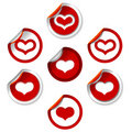 Heart stickers Royalty Free Stock Images