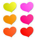 Heart stickers Royalty Free Stock Photo