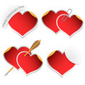 Heart stickers collection Stock Photos