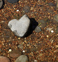 Heart stone japanese rock garden symbolical of Stock Image